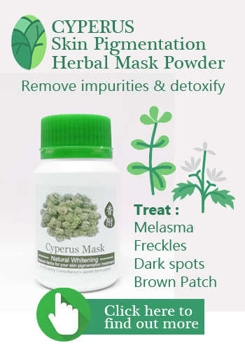 Introduce Cyperus Chinese herbal mask that treats Melasma, freckles and all types of dark spots and brown patches by detoxify your skin and remove harmful cosmetic toxins in your pores.